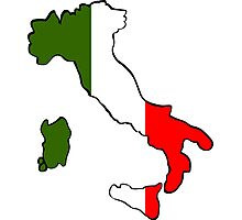 Map of Italy Photographic Print