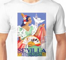 1952 Seville Spain April Fair Poster Unisex T-Shirt