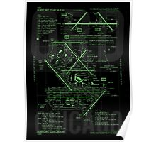 ORD Chicago Airport Diagram Poster