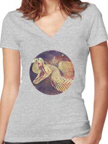 Rattler Women's Fitted V-Neck T-Shirt