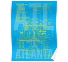 ATL Atlanta Airport Diagram Poster