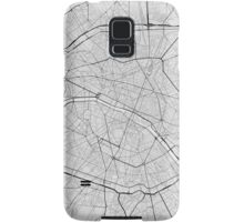 Paris, France Map. (Black on white) Samsung Galaxy Case/Skin