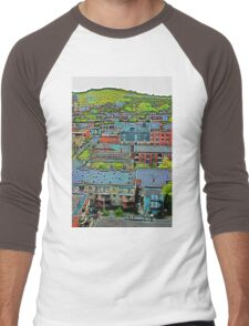 Montreal Suburb (vertical) Men's Baseball ¾ T-Shirt