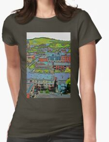 Montreal Suburb (vertical) Womens Fitted T-Shirt