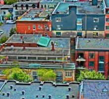 Montreal Suburb (vertical) Sticker