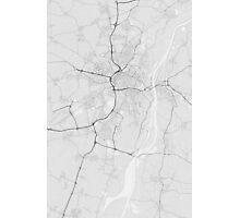 Strasbourg, France Map. (Black on white) Photographic Print