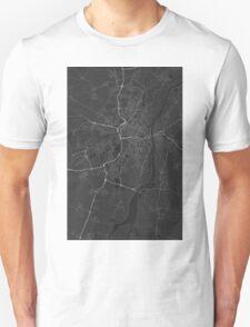 Strasbourg, France Map. (White on black) T-Shirt