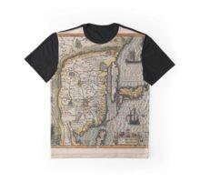 Map Of China 1613 Graphic T-Shirt