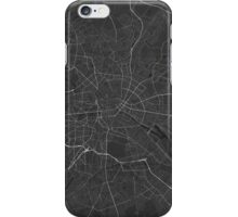Berlin, Germany Map. (White on black) iPhone Case/Skin