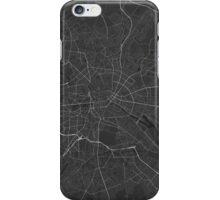 Berlin, Germany Map. (White on black) iPhone Case/Skin
