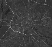 Berlin, Germany Map. (White on black) by Graphical-Maps