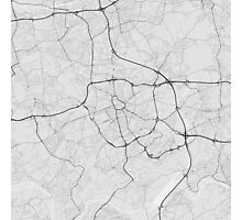Bochum, Germany Map. (Black on white) Photographic Print