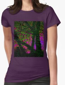 The Psychedelic Forest Womens Fitted T-Shirt