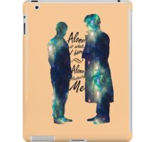 """Johnlock """"ALONE IS WHAT I HAVE"""" iPad Case/Skin"""