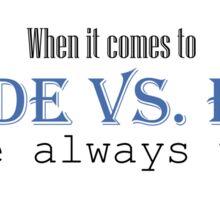 Goode vs. Evil (Blue) Sticker