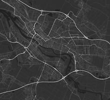 Bremen, Germany Map. (White on black) by Graphical-Maps