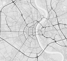 Cologne, Germany Map. (Black on white) by Graphical-Maps