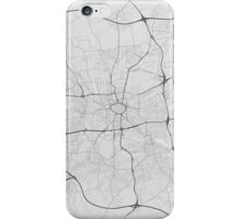 Dortmund, Germany Map. (Black on white) iPhone Case/Skin