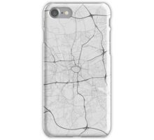 Dortmund, Germany Map. (Black on white) iPhone Case/Skin