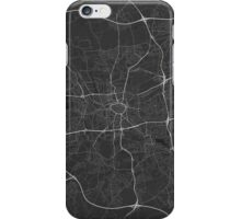 Dortmund, Germany Map. (White on black) iPhone Case/Skin