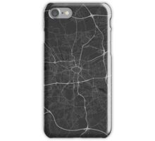 Dortmund, Germany Map. (White on black) iPhone Case/Skin