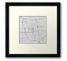 Dortmund, Germany Map. (Black on white) Framed Print