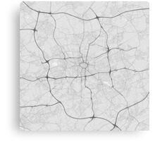 Dortmund, Germany Map. (Black on white) Canvas Print