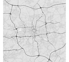 Dortmund, Germany Map. (Black on white) Photographic Print