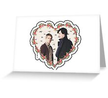 HEARTED JOHNLOCK Greeting Card