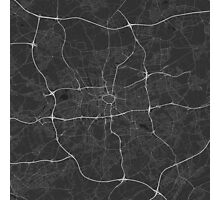 Dortmund, Germany Map. (White on black) Photographic Print