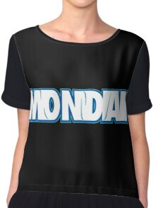 Monday Typography Chiffon Top