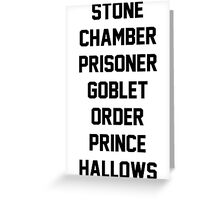 Harry Potter Titles Greeting Card