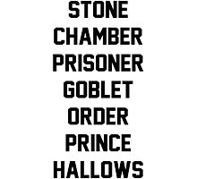 Harry Potter Titles Photographic Print