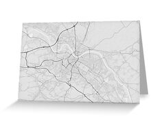 Dresden, Germany Map. (Black on white) Greeting Card