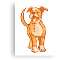 Orange Pup Canvas Print
