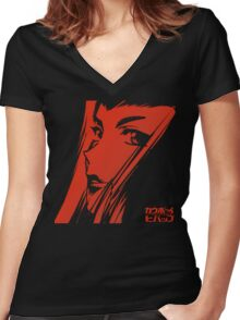 faye Women's Fitted V-Neck T-Shirt