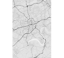 Essen, Germany Map. (Black on white) Photographic Print