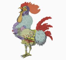 My crazy rooster found the food coloring One Piece - Short Sleeve