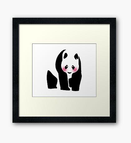 Pretty Panda Bear Framed Print