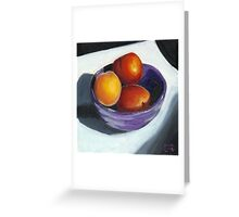 Stoned Fruit in Oils Greeting Card