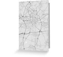 Frankfurt, Germany Map. (Black on white) Greeting Card