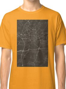 Frankfurt, Germany Map. (White on black) Classic T-Shirt