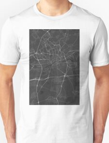 Frankfurt, Germany Map. (White on black) T-Shirt