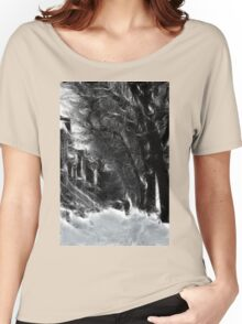 Montreal Winter Windy Scene à la Van Gogh Women's Relaxed Fit T-Shirt