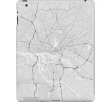 Hamburg, Germany Map. (Black on white) iPad Case/Skin