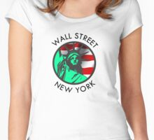 Wall Street, New York Women's Fitted Scoop T-Shirt