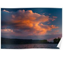 Stormy Spring Sunset Poster