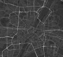 Munich, Germany Map. (White on black) Sticker