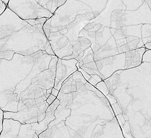 Stuttgart, Germany Map. (Black on white) by Graphical-Maps