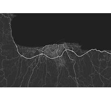Heraklion, Greece Map. (White on black) Photographic Print